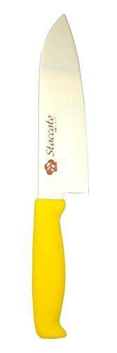 FUJI  Staccato Molybdenum vanadium steel Santoku Knife 170mm jaune SC701