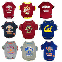 NCAA College Team Dog Shirt - Pet Clothing