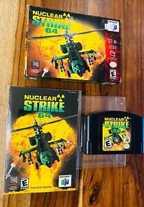 🔥 nuclear Strike 64 🔥 Nintendo 64 N64 Cartucho Completo en Caja Caja Manual Carro Auténtico
