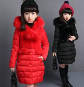 Kinder Mädchen Blumen Winterjacke Kapuze Windjacken Warm Mantel Jacke Outerwear