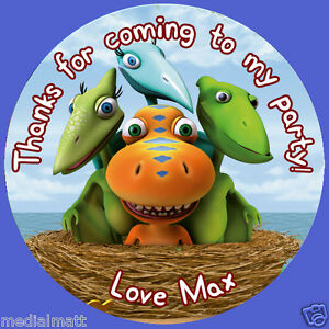 Image Is Loading Personalised Dinosaur Train Stickers Birthday Party For Sweet