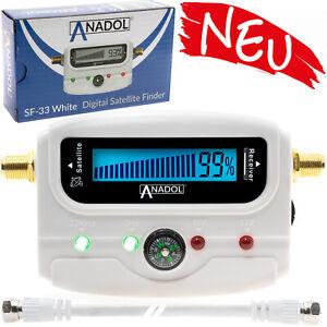 Sat-Finder-Digital-SATFINDER-SF-33-LCD-Display-TON-Kompass-HDTV-UHD-4K-weiss