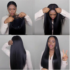 100 brazilian virgin human hair silky straight lace front