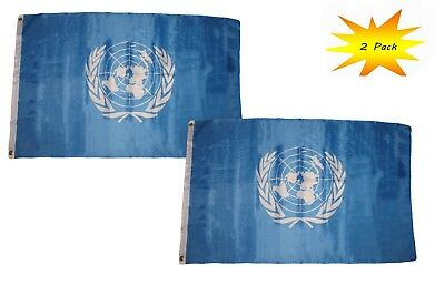 3x5 United Nations UN Premium Quality Flag 3/'x5/' Banner Grommets Polyester