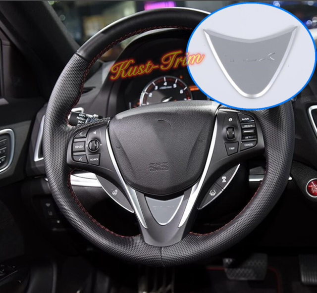 Fit For Acura TLX 2015-2019 Matte Silver Steering Wheel