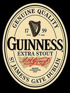 Guinness Bar// Pub man cave Retro metal Aluminium Sign vintage