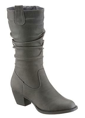 City Walk reunió Pierna Botas Gris Oscuro Uk 5 EU 38 LN20 12