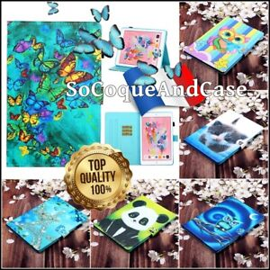 Etui-Coque-Housse-XL-COLORS-Cuir-PU-Leather-Case-Cover-Tablet-iPad-10-2-2019