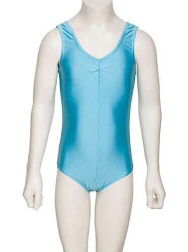 Fancy Dress Party Sans Manches Brillant Lycra Justaucorps toutes les couleurs et tailles kdc006