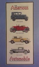 "NOS Bernat DMC Counted Cross Stitch Kit HO4208 American Automobile Cars 9"" x 20"""