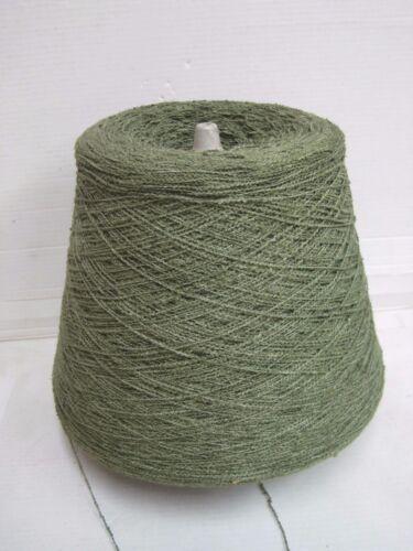 Lana tejer /& handstrickenbouclè kone 88/% lino verde Sage 900gr efecto Garn