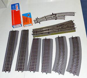10-tlg-Roco-Konvolut-WL15-BWr-2-3-42522-42530-42510-Gleis-4555B-Laternen