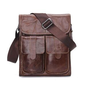 Men-Genuine-Leather-Cowhide-Vintage-11-034-Crossbody-Shoulder-Messenger-Bag-Fashion
