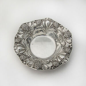 Clover-Small-Serving-Bowl-Sterling-Silver-Gorham