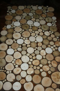 Details Zu 200 Astscheiben Baumscheiben Holzscheiben Deko Dekomaterialbasteln 1 9 Cm