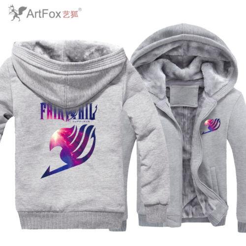 Men/'s Thicker Warm Fairy Tail Happy Guild Emblem Cosplay Sweatshirt Hoodie Coat