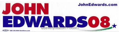 2008 John Edwards for President BUMPER STICKER
