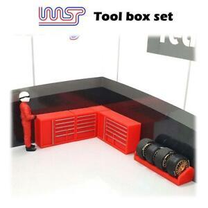 Slot-Car-Garage-Fossa-Scenario-Attrezzo-Set-5-Pezzi-Rosso-1-3-2-Scala