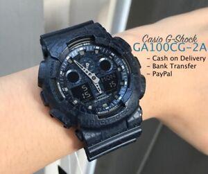Casio-G-Shock-GA100CG-2A-Anadigi-Cracked-Pattern-Blue-Resin-Watch-COD-PayPal