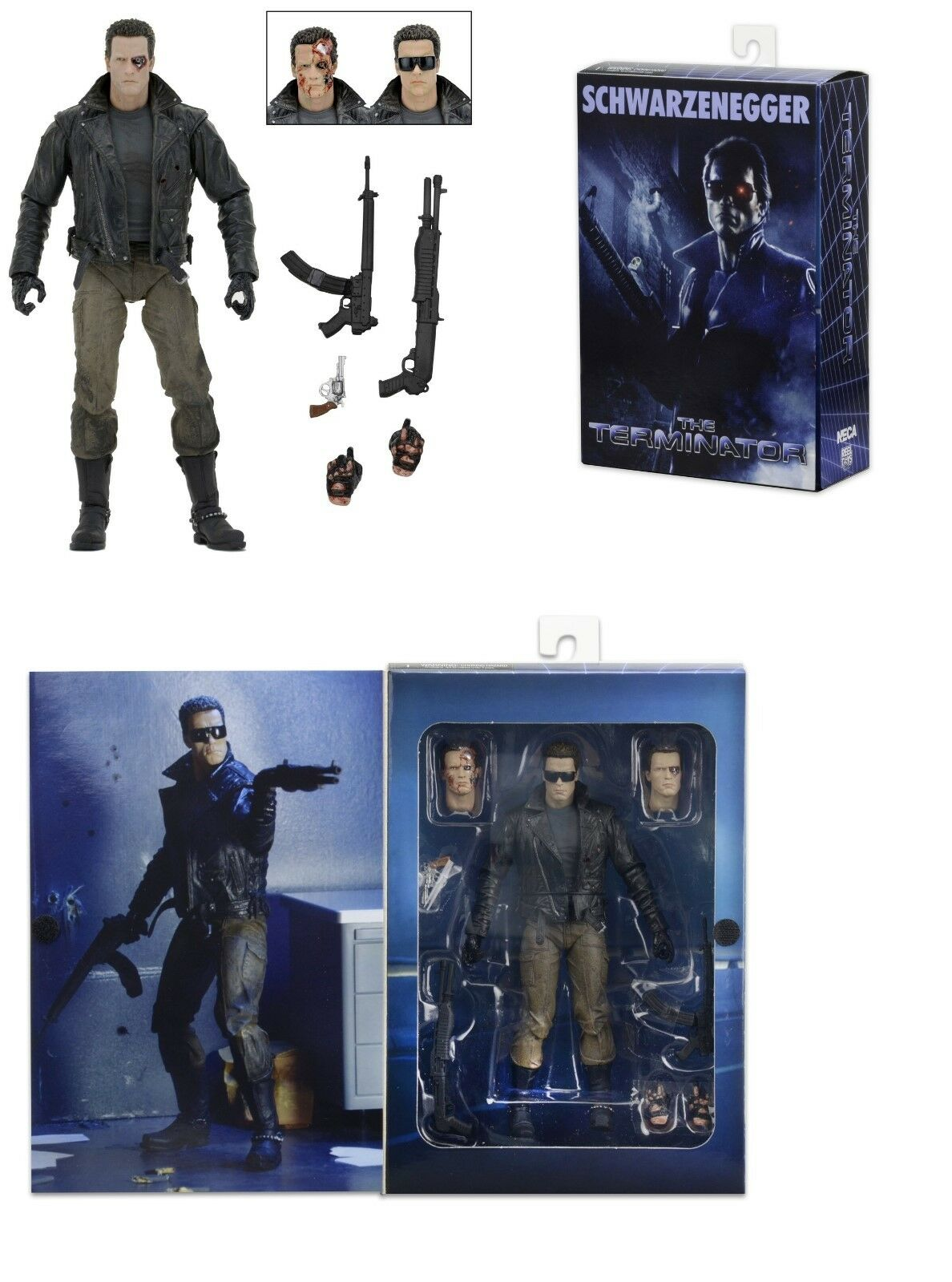 NECA TERMINATOR ULTIMATE T-800 POLICE STATION ASSAULT (ARNIE) 7  ACTION FIGURE