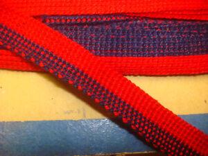 Ancien Galon Rouge Et Bleu Marine (11 ) & Antique Lace Performance Fiable