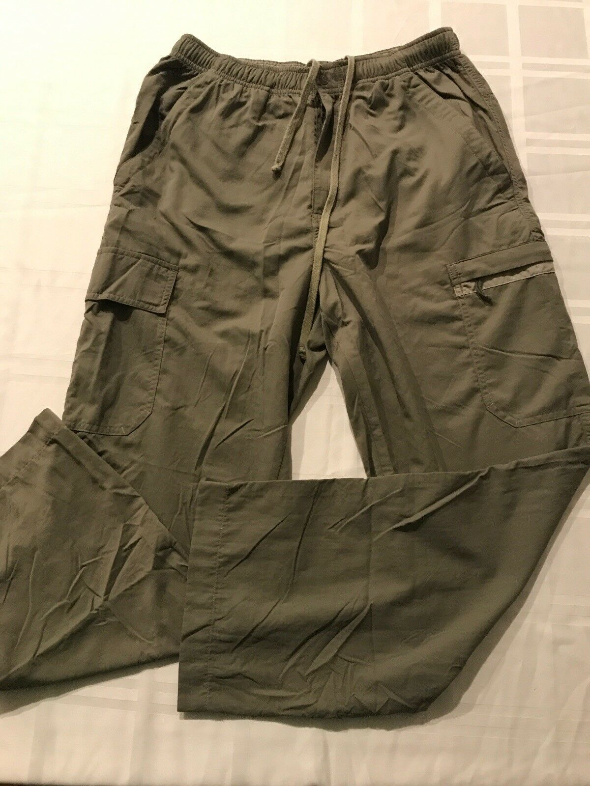 Moose Creek Nylon Cargo Pants Women's Small Khaki Green TS9
