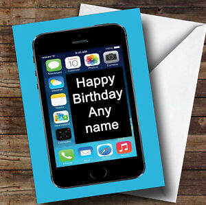Image Is Loading Funny Joke Mobile Phone Personalised Birthday Greetings Card