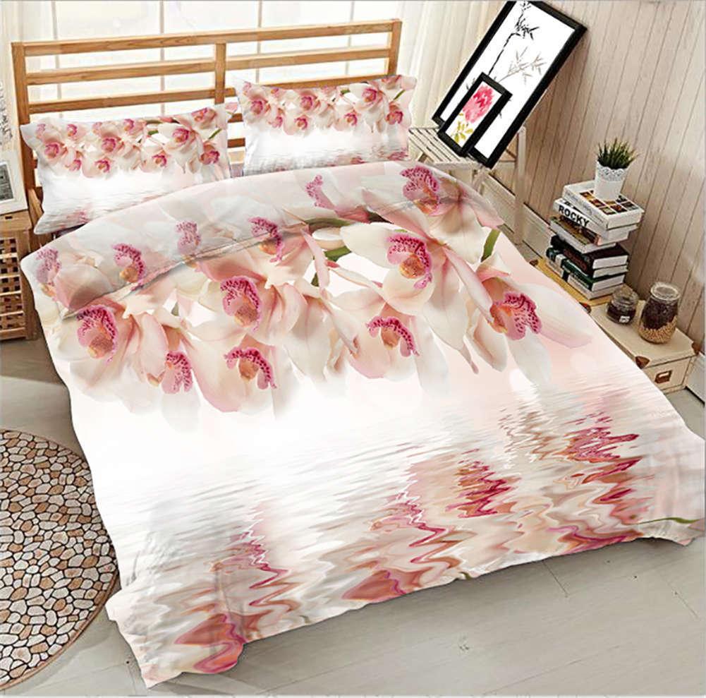 Hibiscus Mutabilis 3D Printing Duvet Quilt Doona Covers Pillow Case Bedding Sets