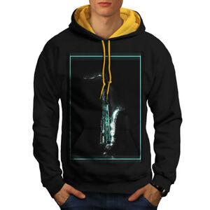 oro cappuccio cappuccio Black in con contrasto con Felpa New sassofono uomo immagine da 7qPF7wg