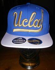 Men's Adidas Ucla Bruins Flat Brim Snapback Cap Blue White Gold OSFA