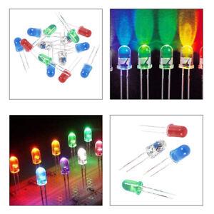 100-pcs-5-mm-Rouge-Vert-Bleu-Blanc-DEL-Diodes-Emettrices-de-lumiere-en-courant-continu-2-5V-3V-F8Q4