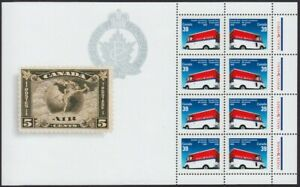 MAIL-DELIVERY-TRUCK-CAR-Miniature-sheet-of-8-stamps-MNH-Canada-1990-1273biv