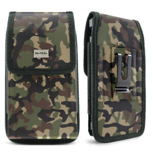 timeless design bc74b f9451 Details about Camo Cell Phone Holder Pouch w/ Belt Loop & Clip Holster  Camouflage (3 Sizes)