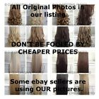 "CLIP IN hair extensions. ORIGINAL PICS, like REAL HAIR, full head, 18"","