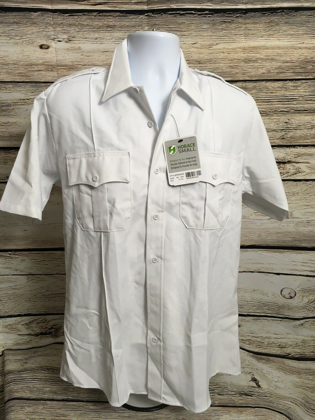 Horace Small Size 15.5 White Deputy Deluxe EMS Fire Security Short Sleeve NEW R5