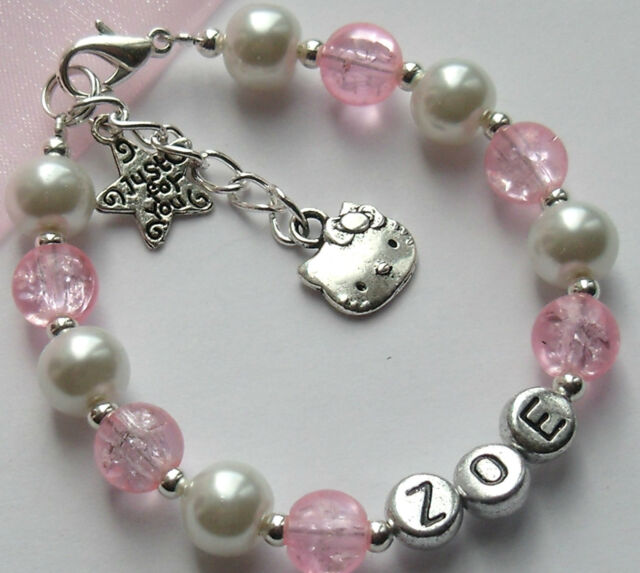 Girls Personalised Hello Kitty Present Bracelet Birthday Gift