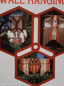 Macrame wall hangings. Vintage patterns, ALASKAN BEAUTY, lots more - see pics