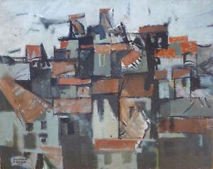 Jean-Claude BÉDARD (1928-1982) HsT 1955 Nl Ecole de Paris Jeune Peinture Cubisme