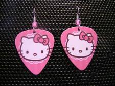 Hello Kitty Pink / Guitar Pick Earrings
