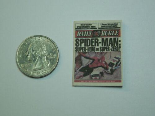 """Échelle 1//12 journal-Daily Bugle pour Spiderman Peter Parker/"""".. super zéro?/"""""""