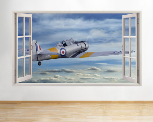 H892 Old War Plane Flying Blue Sky Window Wall Decal 3D Art Stickers Vinyl Room