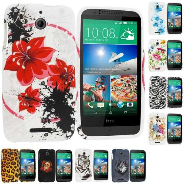 For HTC Desire 510 TPU Design Rubber Skin Case Cover Accessory
