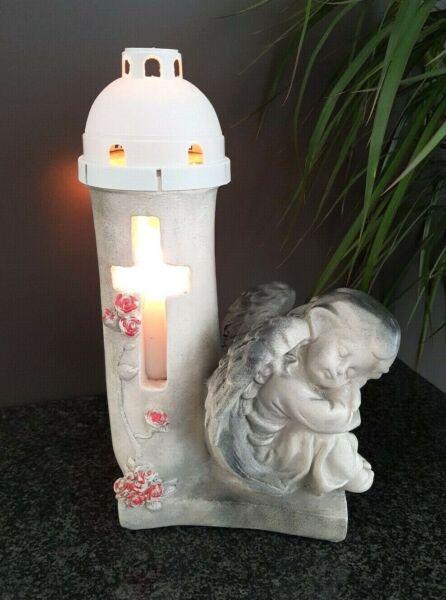 Ange Lanterne De Tombe Lampe Grave Luminaire Fossé Lumière Ange-gardien Bougie Acheter Un Donner Un