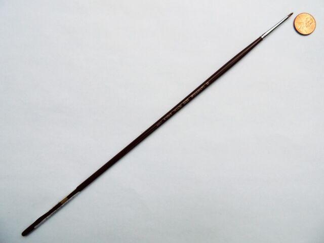 Filbert Size 0 Silver Brush 1103-0 Silverstone Excellent Long Handle Hog Bristle Brush