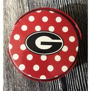 New University Of Georgia Uga Polka Dots Collegiate Coaster Gift Set 5 Piece Sec Ebay