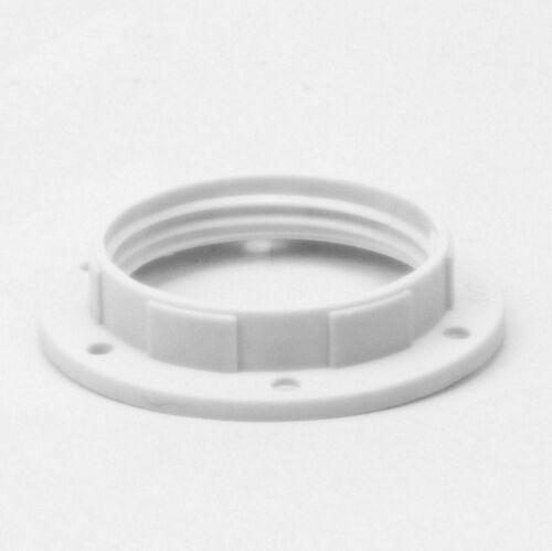 2x E14 Unterring Schraubring Thermoplast weiß 43x10mm für Kunststoff Fassung