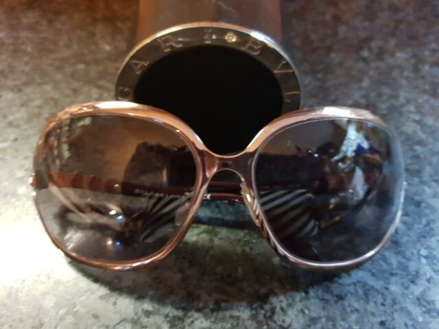Authentic BVLGARI Butterfly Big Sunglasses & Swarovsky Crystals Snake pattern