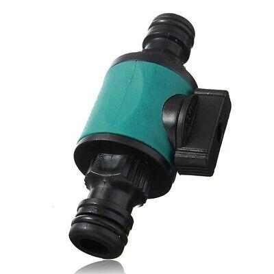 1X Doppelpassventil Rohr Gartenschlauch Kupplung Wasserstop Ventil