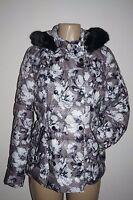 Victoria's Secret Polyester Faux Fur Trim Puffer Jacket Floral Small