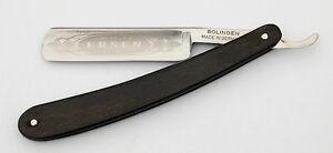 Ersen Solingen Germany Sonderabschnitt Rasiermesser 5/8 Carbonstahl-klinge Ebenholz-griff Rohstoffe Sind Ohne EinschräNkung VerfüGbar